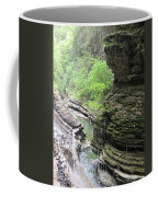 Water Falling Throughout The Gorge Coffee Mug