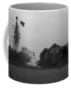Windmill And Barn In Black And White Coffee Mug