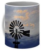 Windmill And Cloud Bank At Sunset Coffee Mug