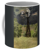 Windmill And Vineyards Coffee Mug