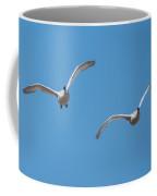 Trumpeter Swan Pair In Flight Coffee Mug