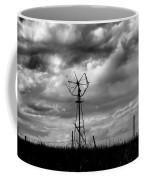 Windmill Foreground A Dramatic Sky Baw Coffee Mug
