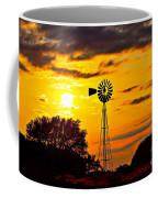 Windmill In Texas Sunset Coffee Mug