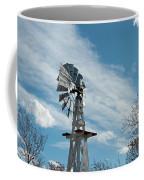 Windmill With White Wood Base Coffee Mug