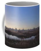 Windmills At Kinderdijk In Wintersun Coffee Mug
