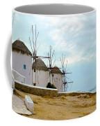 Windmills Of Mykonos I Coffee Mug