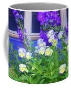 Window Box With Pansies Coffee Mug