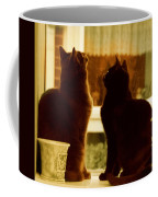 Window Cats Coffee Mug