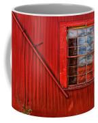Window In Red Coffee Mug