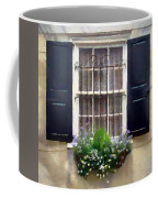 Window Shutters And Flowers II Coffee Mug