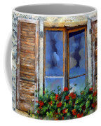Window Shutters And Flowers IIi Coffee Mug