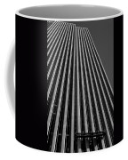 Window Washers View - Black And White Coffee Mug