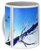 Window With The Mountain View Coffee Mug