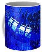 Windows Reflected On A Blue Bowl 3 Coffee Mug