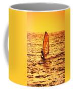 Windsurfer At Sunset Coffee Mug