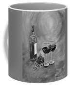 Wine On My Canvas - Black And White - Wine For Two Coffee Mug