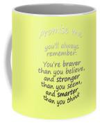 Winnie The Pooh - Promise Me Coffee Mug