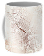 Winnipeg Street Map Colorful Copper Modern Minimalist Coffee Mug