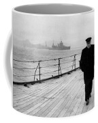 Winston Churchill At Sea Coffee Mug by War Is Hell Store