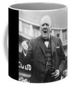 Winston Churchill Campaigning - 1945 Coffee Mug