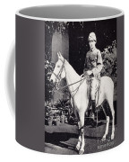Winston Churchill On Horseback In Bangalore, India In 1897 Coffee Mug