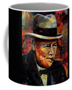 Winston Churchill Portrait Coffee Mug