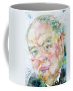 Winston Churchill - Watercolor Portrait.4 Coffee Mug