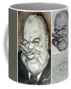 Winston Churchill's Caricature Coffee Mug