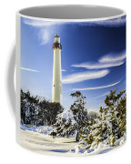 Winter At Cape May Light Coffee Mug