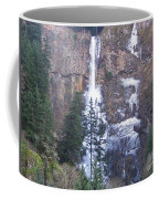 Winter At Multnomah Falls Coffee Mug