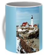 Winter At Portland Head Coffee Mug by Greg Fortier