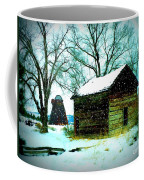 Winter Barn And Silo Coffee Mug