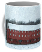 Winter Barn In Oil Coffee Mug