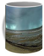 Winter Beach Coffee Mug by Debbie Cundy