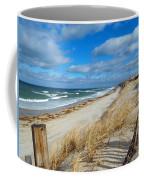 Winter Beach View Coffee Mug