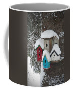 Winter Birdhouses Coffee Mug
