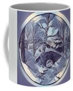 Winter Bridge In Blue Coffee Mug