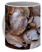 Winter Brown Leaves Powdered With Frost Coffee Mug