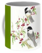 Winter Chickadees And Berries Coffee Mug