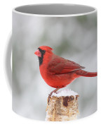 Winter Day Cardinal Coffee Mug