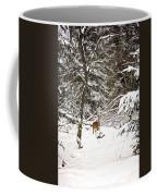Winter Doe In The Upper Peninsula Coffee Mug