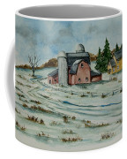 Winter Down On The Farm Coffee Mug by Charlotte Blanchard