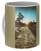 Winter Driveway Sunset Coffee Mug