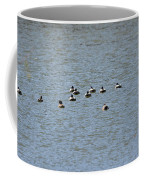 Winter Ducks Swimming Away  Coffee Mug