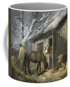 Winter Farmyard Coffee Mug