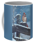 Winter Female Cardinal Coffee Mug