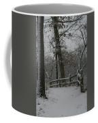 Winter Fence Trail Coffee Mug by Dylan Punke