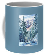 Winter Forest And Mountains Coffee Mug