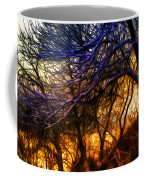 Winter Forest Sunset Oil Style Coffee Mug