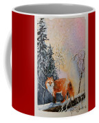 Winter Fox Coffee Mug